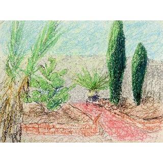 Contemporary Desert Green Drawing