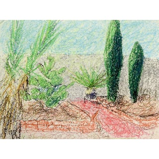Contemporary Desert Green Drawing