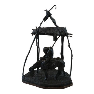 """Kelly Pruitt """"Where the Crow Cry"""" Bronze Sculpture"""