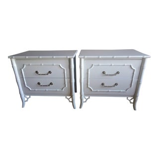 Dixie Faux Bamboo Nightstands - A Pair