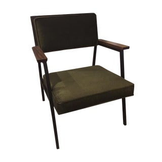 Reupholstered Steel-Case Mid Century Retro Chair