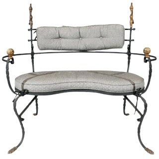Rudolph Valentino Estate Iron & Bronze Settee