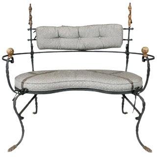 Rudolph Valentino Estate Iron & Bronze Settee