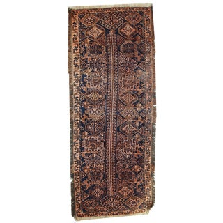 1900s Hand Made Antique Afghan Baluch Rug - 2′2″ × 5′9″