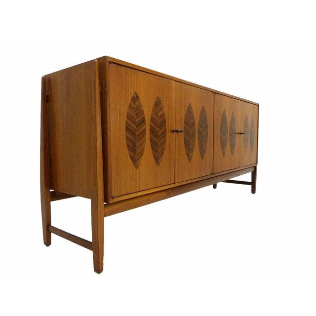 Kipp Stewart for Calvin Furniture Teak & Rosewood Inlay Sideboard - Image 4 of 11