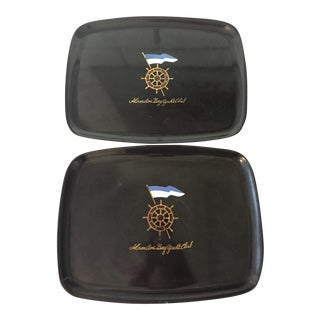 Couroc Alamitos Bay Yacht Club Trophy Trays - Pair