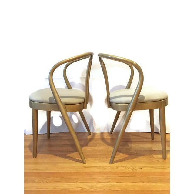 Vintage Modern Bentwood Dining Chairs - Set of 5 - Image 10 of 11