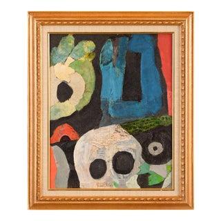"""Abstract Heads"" Original Painting by John I. Kjagaard"