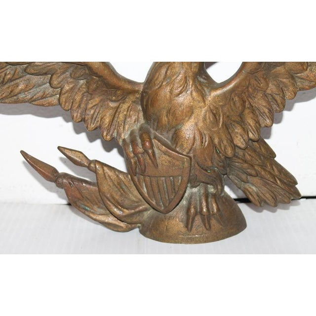 Fantastic 19th Century Gilded Bronze Eagle Statue - Image 5 of 6