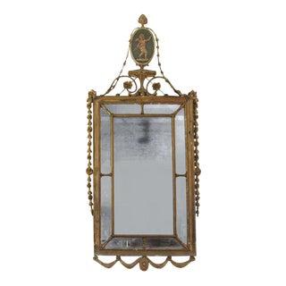 Adam Style Rectangular Giltwood Mirror