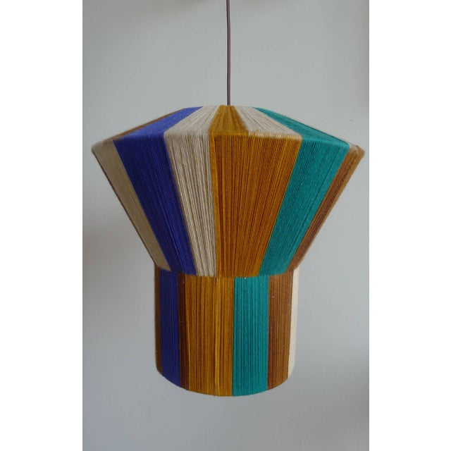 Image of Paul Marra Hand-Dyed String Shaded Pendant