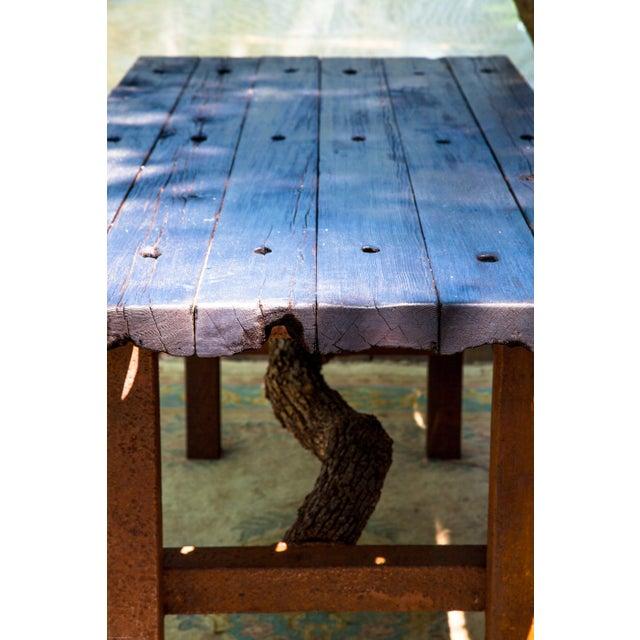 Wabi-Sabi Yakisugi Wood Dining Island Table Console - Image 4 of 11