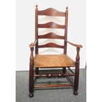 Image of Rare 18th c. Delaware River Valley Ladder Back Side Chair