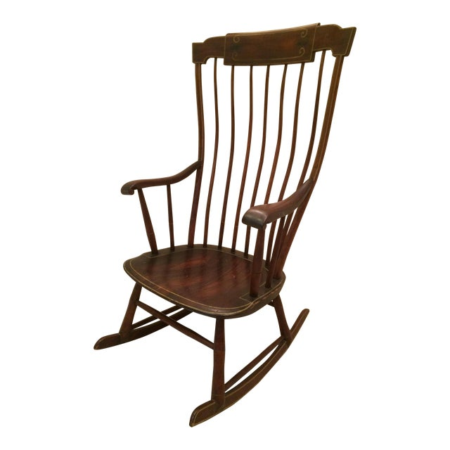 Antique Federal Period Boston Windsor Rocking Chair - Image 1 of 10 - Antique Federal Period Boston Windsor Rocking Chair Chairish