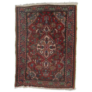 Persian Hamedan Hand Knotted Wool Rug - 2′ × 2′9″