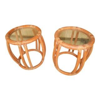 McGuire Bamboo End Tables- A Pair