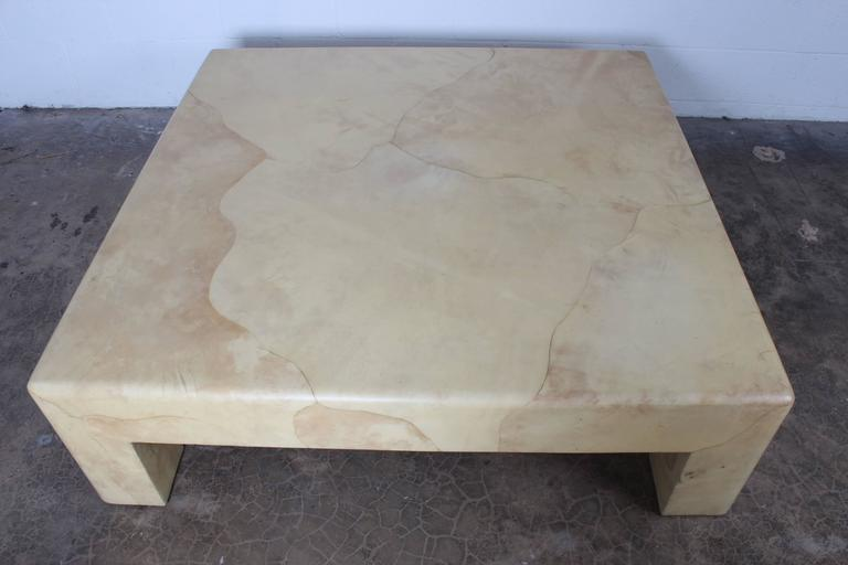Goatskin Covered Coffee Table By Karl Springer   Image 6 Of 10