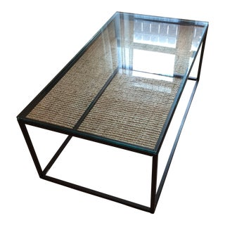 West Elm Iron & Glass Coffee Table