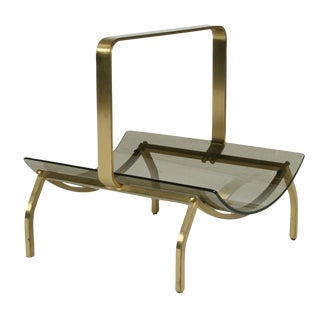 Fontana Arte Smoked Glass & Bronze Magazine Stand