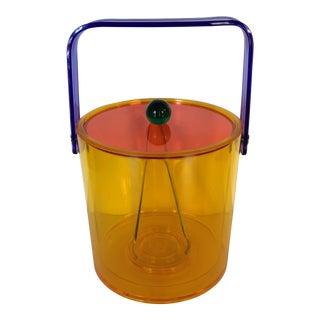 Vintage Multicolored Lucite Ice Bucket