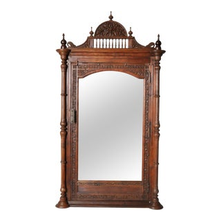 Carved British Colonial Mirror Frame