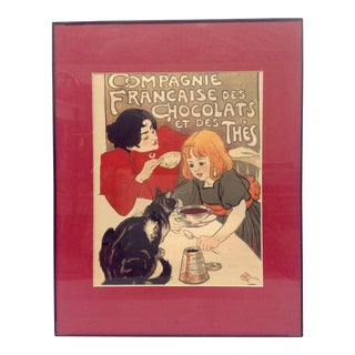 T. A. Steinlen French Chocolate Advertising Poster