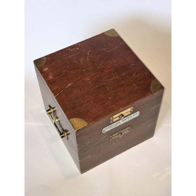 Vintage Marine Hamilton Chronometer Case - Image 4 of 9