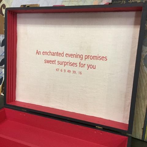 'Good Fortune' Vintage Refinished Artist Box - Image 9 of 10