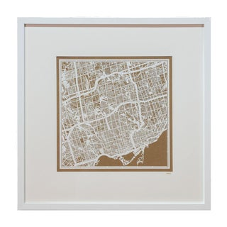 Sarreid LTD Framed Toronto Map