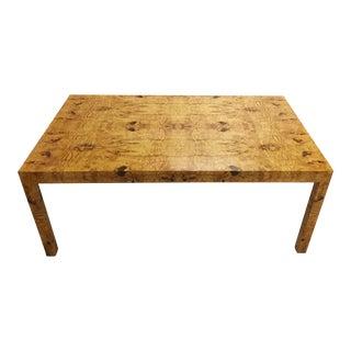 Piano Lacquered Burl Table