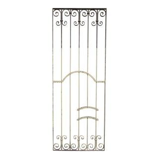 Antique Victorian Iron Gate Window Garden Fence Architectural Salvage Door #345