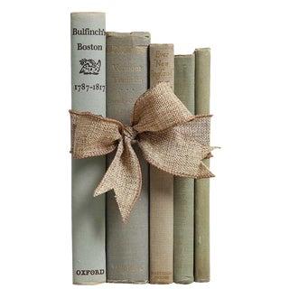 Vintage Book Gift Set: New England in Sage - Set of 5