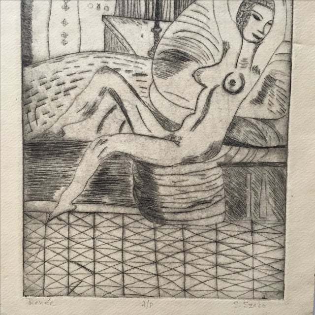 """Lithograph """"Renee"""" by S.Szabo - Image 10 of 10"""