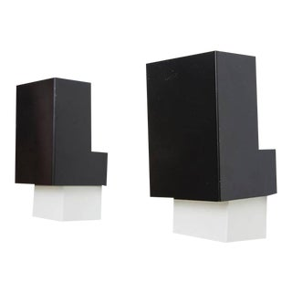 Black & White Anvia Wall Sconces - A Pair