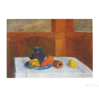 Odilon Redon Still Life With Peppers and Pitcher Poster