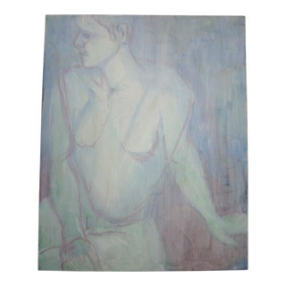 Blue Abstract Nude Painting