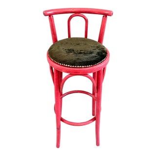 Pink Nailhead Bar Stool