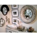Image of Painted Round Wood Mirror