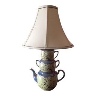 Stacked Ceramic Teapot Lamp