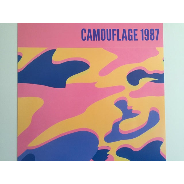 """Andy Warhol Original Lithograph Pop Art Poster """"Pink Camouflage"""" 1987 - Image 4 of 10"""