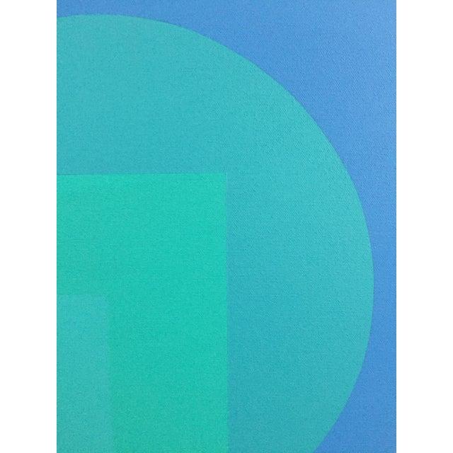 1971 Hard Edge Abstract Fredrick Gaertner - Image 5 of 10