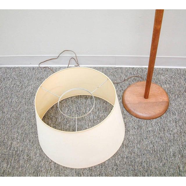 Walnut Floor Lamp Attributed to Vladimir Kagan - Image 6 of 7