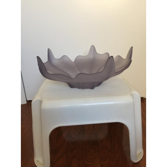 Lavendar Frosted Glass Decorative Bowl - Image 6 of 6