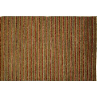 Fine Gabbeh Multicolor Brocade Rug - 6' x 9'