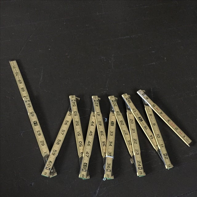 Stanley Extension Wood & Brass Ruler - Image 7 of 9