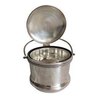 F. B. Rogers Silverplate Swing Top Ice Bucket