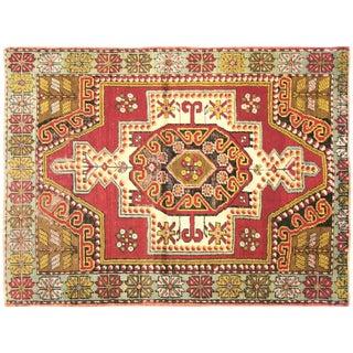 "Vintage Turkish Oushak Rug -- 3'6"" x 4'7"""