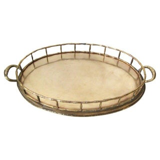 Brass Tray With Bamboo Style Gallery Rail