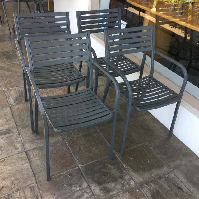 Emu Segno Stackable Outdoor Dining Chairs - Set of 4 - Image 3 of 8