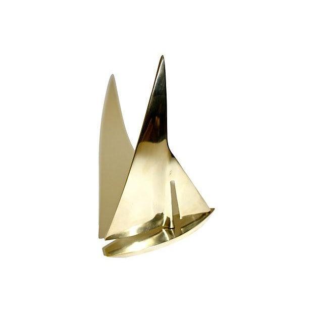 Vintage Brass Sailboat - Image 2 of 3